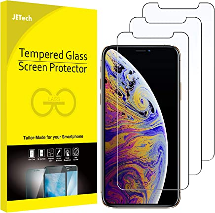 JETech Screen Protector Compatible with iPhone Xs Max 6.5-Inch, Tempered Glass Film, 3-Pack