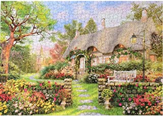 1000 Piece Jigsaw Puzzle Set for Kids Adult, Hohaski England Cottage Micro Jigsaw Puzzles Spring Country Cottage Jigsaw Puzzles Gift 27.56 x 19.69 inches
