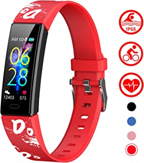 Slim Fitness Tracker for Kids Women,IP68 Waterproof Activity Tracker with Blood Pressure Heart Rate Sleep Monitor,11 Sport Modes Health Smart Watch with Pedometer Alarm Clock,Great Gift