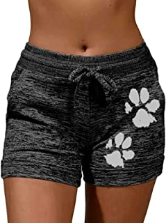 Honeystore Women's Soft Workout Yoga Shorts Activewear Lounge Short with Pockets