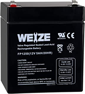 Weize 12V 5AH Lead Acid SLA Rechargeable Battery Replaces 12 Volt 4AH 4.5AH 5AH