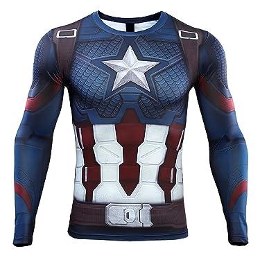 Captain America Men's Compression Shirt 3D Print T-Shirt