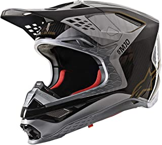 Alpinestars Supertech M10 Dyno Helmet-Silver/Black/Carbon/Gold-M