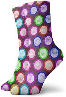 Colorido condón Moda Corto Crew calcetín atlético Vestido de Tobillo calcetín Talla única para Hombres Mujeres