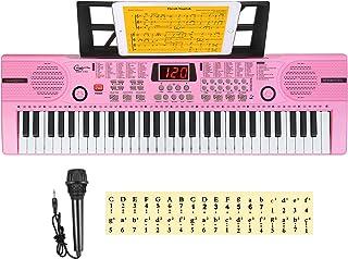 Hricane Kids Keyboard Piano, 61 Keys Beginner Electronic Keyboard, Portable Digital Music Keyboard, Early Education Music ...