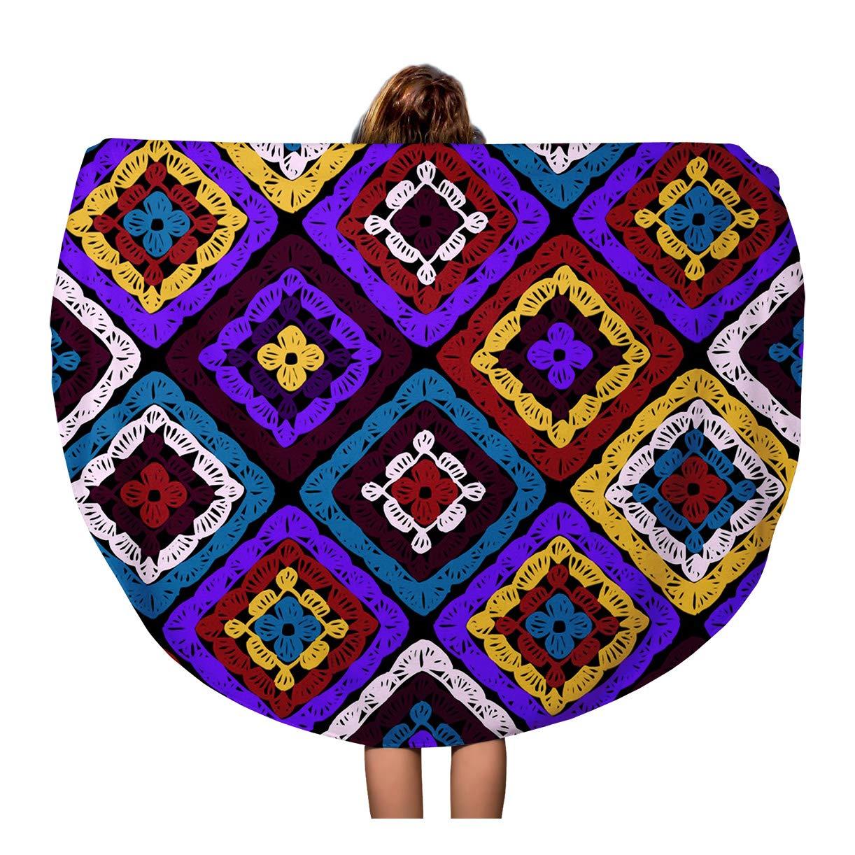 Crochet Round Ripple Blanket   Only New Crochet Patterns