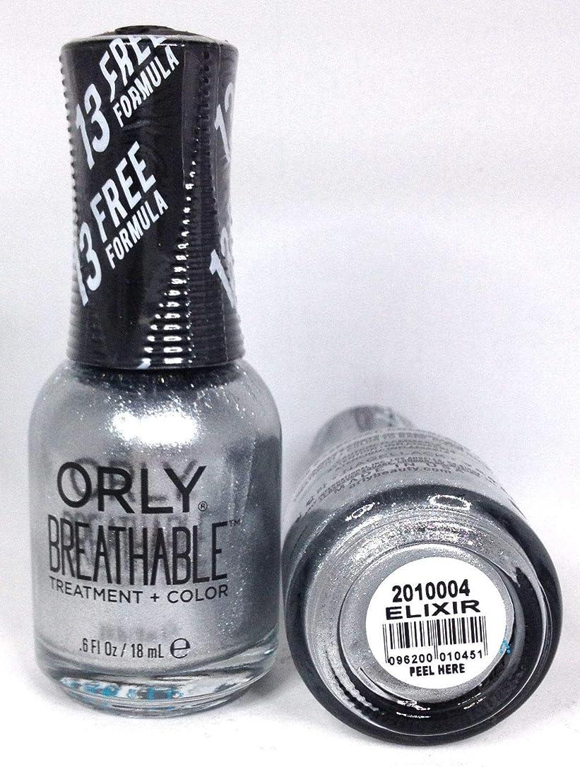 ノイズ哲学者ぺディカブORLY Breathable Lacquer - Treatment+Color - Elixir - 18 mL / 0.6 oz