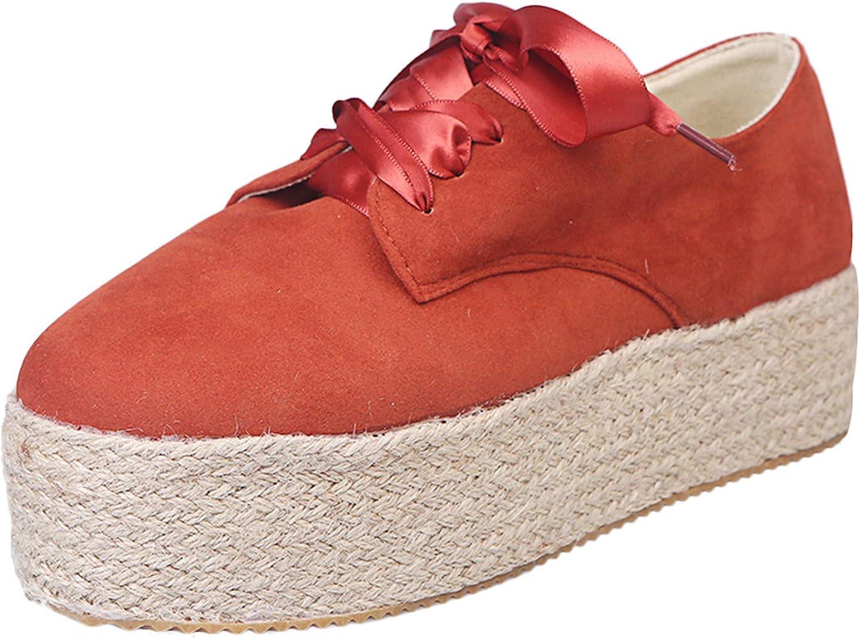 Padaleks Womens Lace up Platform Sandals Wedges Espadrilles Sand Spring OFFicial shop new work