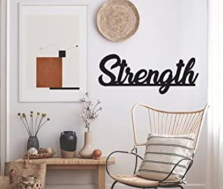 Tum Tum Strength High MDF Acrylic Plaque Black Painted Cutout Ready Stick or Hanging   Home Bedroom Living Area Office Caf...