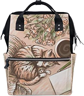 Fresh wild simple fashion Multi-Function Backpack Women Luggage Bag Nappy Backpacks High Capacity Student Bag Leisure Aft...