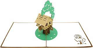 PopLife Tree House 3D Pop Up Greeting Card for All Occasions - Backyard Fun, DIY Adventures - Folds Flat, Perfect for Mailing - Father's Day, Birthday, Get Well, Anniversary, Earth Day