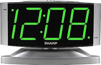 Sharp Home LED Digital Alarm Clock – Swivel Base - Outlet Powered, Simple Operation, Alarm, Snooze, Brightness Dimmer, Big...