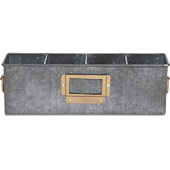 Elan All in One Antique Multi Functional 4 Compartment for Official Storage Organizer (Black with Copper)