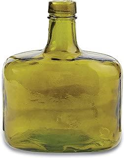 Mud Pie Whiskey Bottle Green Glass Vase,