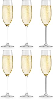 Verre à champagne Atna de Libbey - 21 cl / 210 ml - 6 unités - design élégant – qualité supérieure - vont au lave-vaisselle