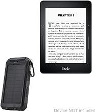 Kindle Paperwhite Battery, BoxWave [Solar Rejuva PowerPack (5000mAh)] Solar Powered Backup Power Bank for Amazon Kindle Paperwhite - Jet Black