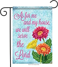 Carson Home Accents FlagTrends 46945 Serve The Lord Classic Outdoor Flag, Country Garden