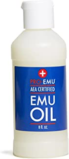 PRO EMU OIL (8 oz) All Natural Emu Oil - AEA Certified - Made In USA Best All Natural Oil for Face, Skin, Hair and Nails.