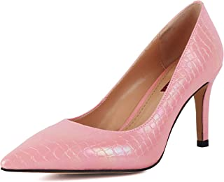 Stiletto High Heels Sexy Pearl Shiny Pointed Toe Business Party Wedding Slip-on Dress Shoes