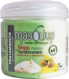 NEW !!!Boe Crece Pelo Mayolive Mas Omega 3 Hair Treatment 16 Oz (Two Pack) by Mayoliva