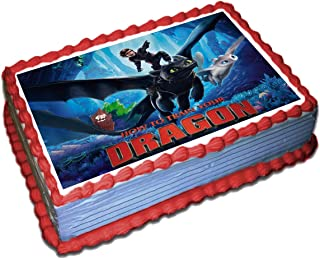 How To Train Your Dragon 3 Cake Toppers Icing Sugar Paper 8.5 x 11.5 Inches Sheet Edible Frosting Photo Birthday Cake Topper (Best Quality Printing)