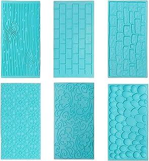 Tapis d'impression en Silicone, Lot de 6 Tapis d'impression en Plastique, Motif écorce d'arbre Ustensiles de Décoration So...
