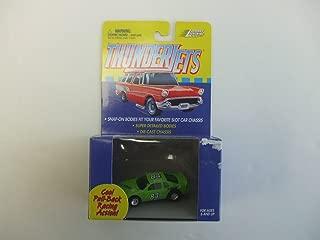 Johnny Lightning ThunderJet 500 - HO Scale - Pull Back Action Nascar Stocker Lime Green