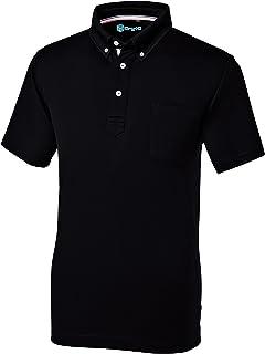SOWA(ソーワ) 作業服 メンズ 半袖 ボタンダウンポロシャツ (胸ポケット) ブラック LLサイズ 50391 【ポリエステル100% オールシーズン レディースサイズ対応】