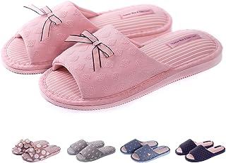 cc436cab9 TWINS Fashion « Rimini » Zapatillas de casa Mujer Mulas algodón Interior  cómodo Suela Estable Antideslizante