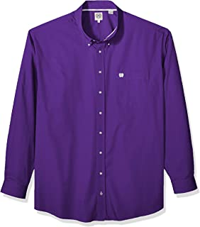 Cinch Mens Classic Fit Long Sleeve Button One Open Pocket Solid Shirt Button-Down Long Sleeve Button Down Shirt