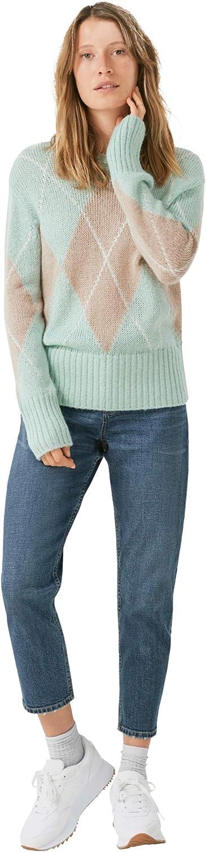ellos Women's Plus Size Argyle Pullover