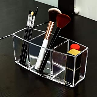 Makeup Box Lipstick Holder, 3 Big Spaces Lipgloss Organizer, Makeup Holder & Clear Lipstick Organizer Display Stand, cosme...