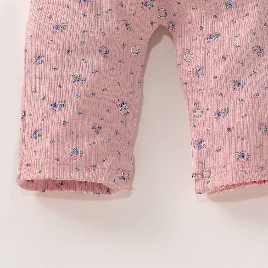 Jumpsuit for Baby Easter 0-24 Months Infant Newborn Girls Short Sleeve Ruffles Floral Print Romper Jumpsuit Clothes Girls Romper Jumpsuit