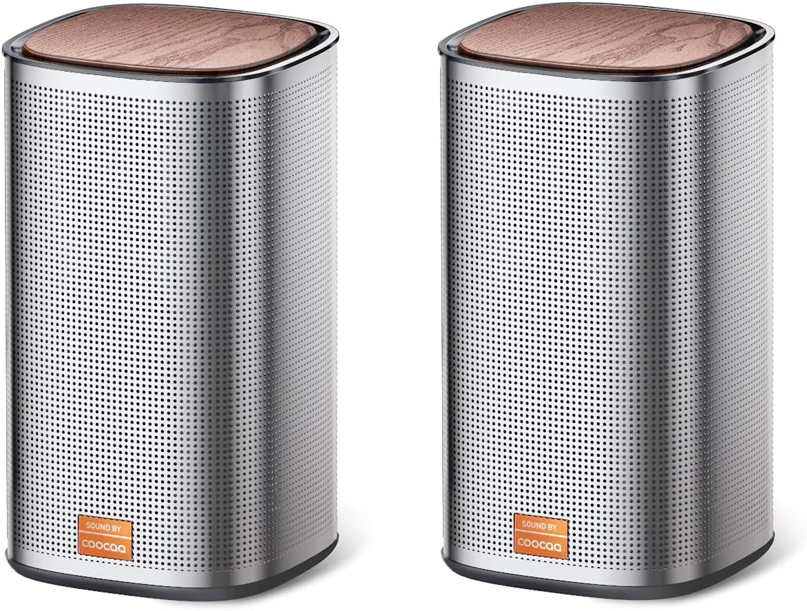 COOCAA Play2S Wired Computer Speakers, 2.0 Channel USB Powered Speakers with Enhanced Stereo Bass and Easy-Access Volume Control, Bluetooth 5.0 Speakers for PC and Phones
