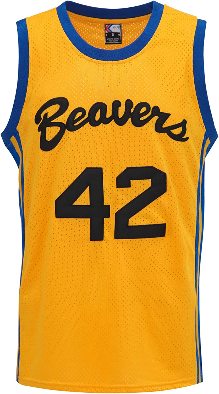 MOLPE Howard #42 Beavers Basketball Hi Yellow Jersey 90s Fort Worth Mall S-XXXL Popular standard