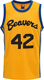 MOLPE Howard #42 Beavers Basketball Jersey S-XXXL Yellow, 90s Hip Hop Clothing,Stitched Letters and Numbers
