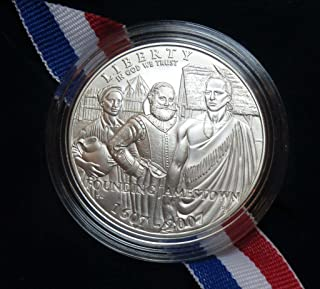 2007 P Jamestown 400th Anniversary Commemorative SILVER COIN Dollar Uncirculated US Mint