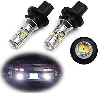 iJDMTOY (2) Xenon White CAN-bus 12184 12185 PH24W LED Bulbs For 2010-2013 Chevrolet Camaro, 2010-2016 Cadillac SRX, 2011-2012 Ford Taurus, 2007-2012 GMC Acadia, etc