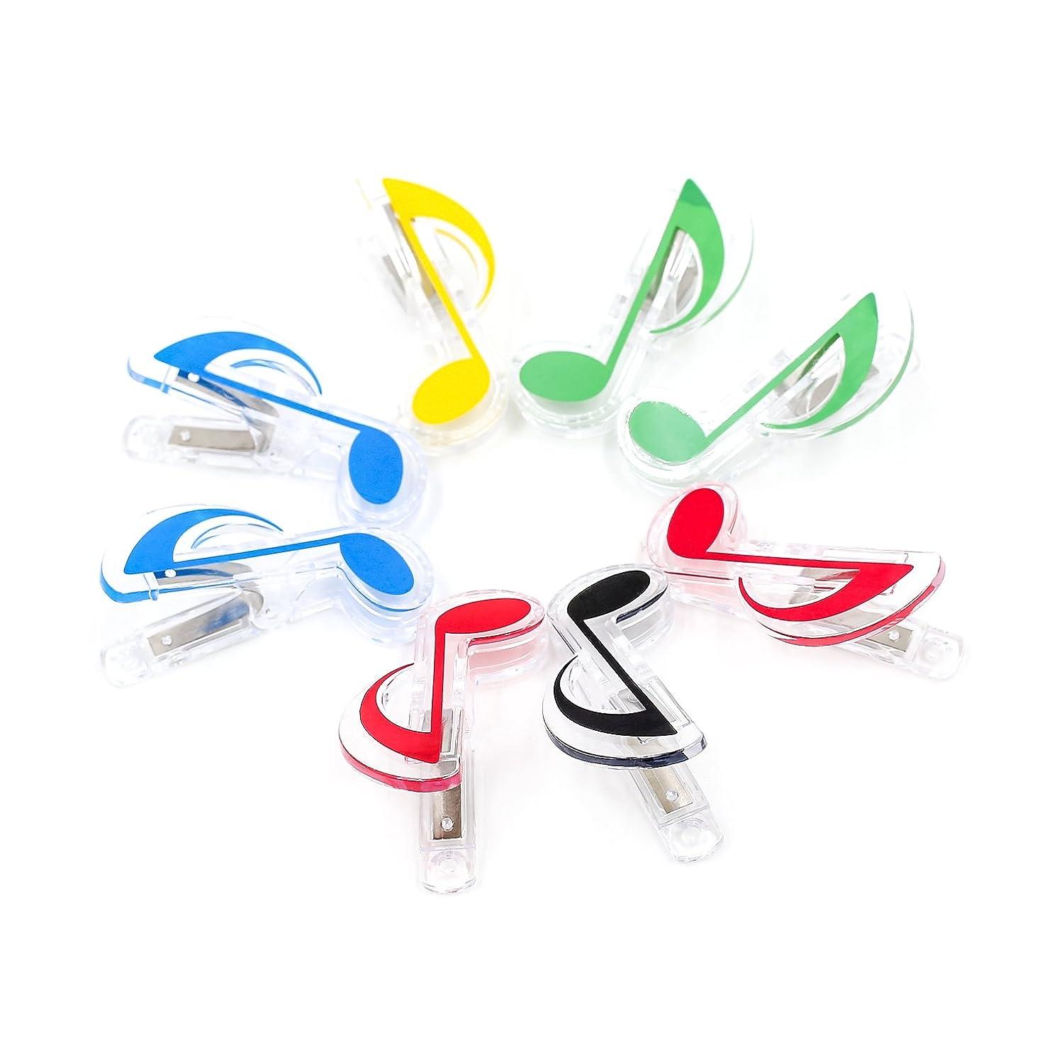 いろいろ魅惑するタイプZhi Jin 8個 音楽可愛いダブルクリップ 日常生活 オフィス 学用品 ローノートランダム