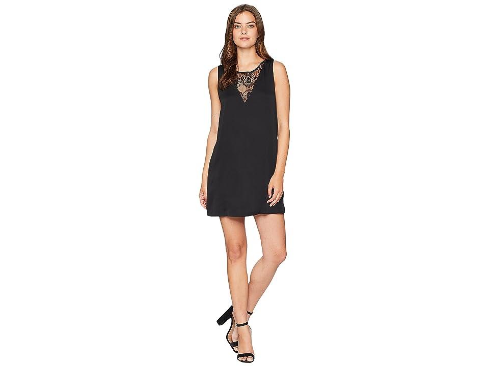 BCBGeneration A-Line Dress with Contrast (Black) Women