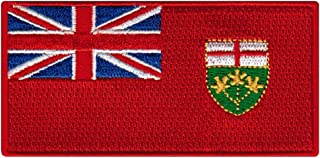 Ontario Flag Embroidered Patch Canadian Province Iron-On Canada National Emblem