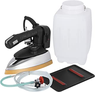 VEVOR Steam Iron 3L Industrial Steam Iron ES-300 Gravity Feed Iron 1000W Feed Steam Iron Set with Non-Stick Laminate Sole Plate and Replacement Water Bottle (Bottle Steam Iron)