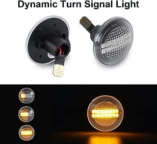 Airymap 2pcs Clignotant lat/éral LED dynamique Feux de Position lat/éraux Clignotant,Feux Clignotants Orange