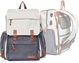Baby Diaper Bag Backpack- Large Travel Backpack with Wipes Pocket, Changing Pad, Insulated Pockets, and Stroller Strap