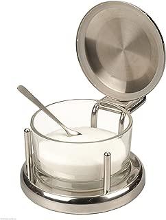 ALTON BROWN Good Eats Stainless & Glass SALT Keeper BOX DISH SERVER CELLAR by Other Kitchen