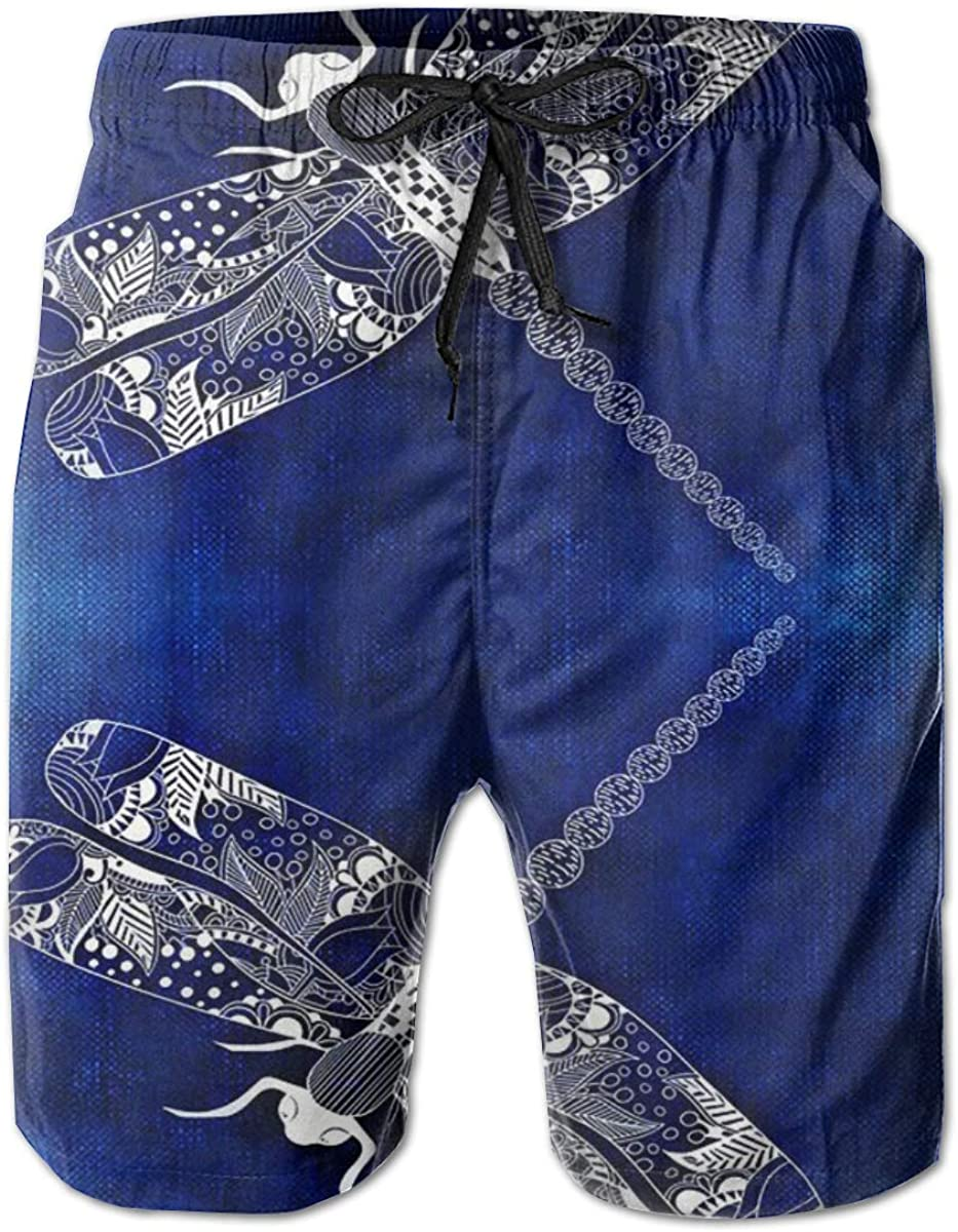 Yt92Pl@00 Easy-to-use Men's 100% Polyester Dragonfly Comfortable Beachwear Max 83% OFF