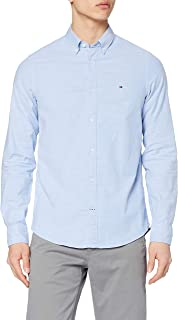 Tommy Hilfiger Herren CORE STRETCH SLIM OXFORD SHIRT Freizeithemd, Weiß (Bright White 100), Large
