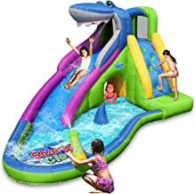 ACTION AIR Inflatable Waterslide, Shark Bounce House with Slide for Wet and Dry,..