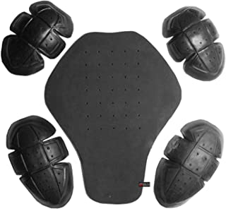 5PC CE Certified Advanced PU Armor for Motorcycle Biker Jackets Removable Set