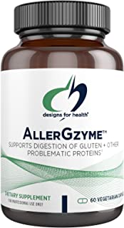 Designs for Health AllerGzyme Digestive Enzymes Supplement - Supports Digestion of Gluten, Dairy + Problematic Proteins wi...
